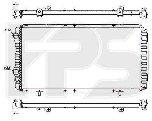 Радиатор охлаждения FPS 20A722