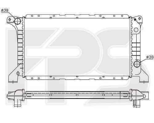 Радиатор охлаждения FPS 28A734