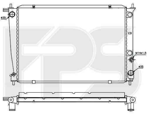 Радиатор охлаждения FPS 32A679
