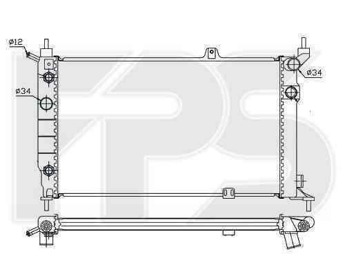 Радиатор охлаждения FPS 52A1080P