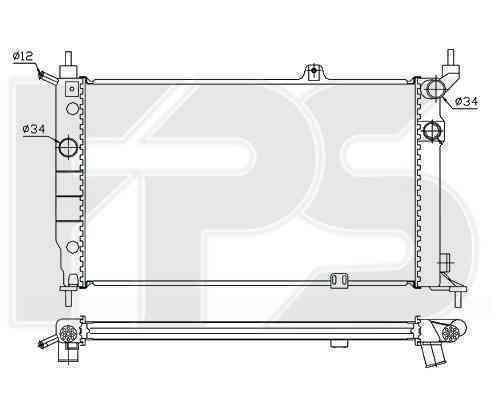 Радиатор охлаждения FPS 52A258P