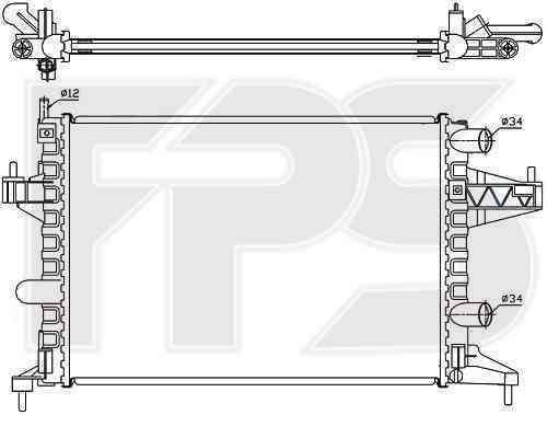 Радиатор охлаждения FPS 52A265P