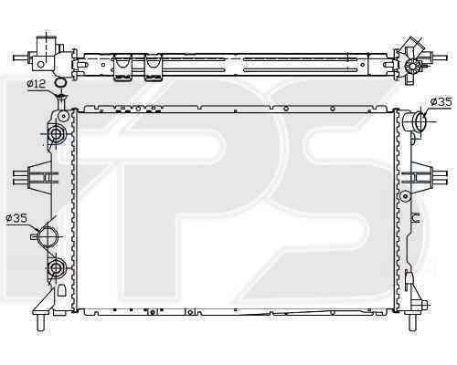 Радиатор охлаждения FPS 52A282P