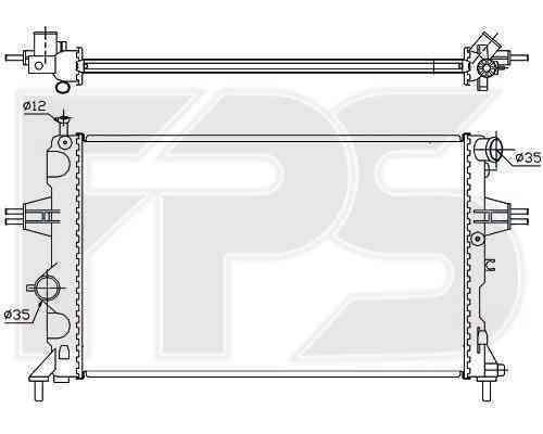 Радиатор охлаждения FPS 52A288
