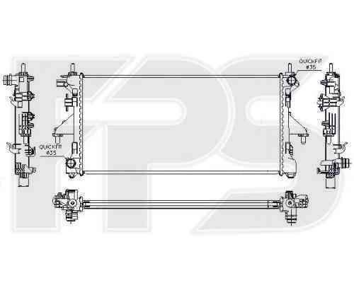 Радиатор охлаждения FPS 54A1225