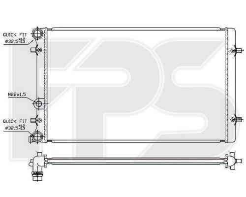 Радиатор охлаждения FPS 62A826