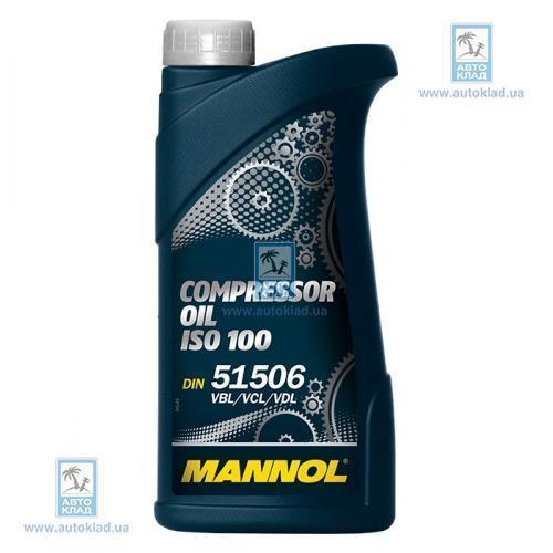 Масло компрессорное Compressor oil ISO 100 1л MANNOL MNISO1001L