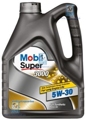 Масло моторное 5W-30 Super 3000 XE 4л MOBIL 153018