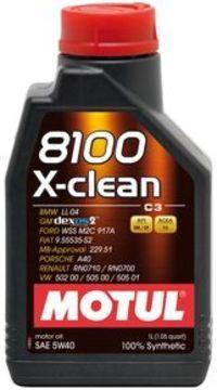 Масло моторное 5W-40 8100 X-Clean 4л MOTUL 104720