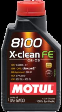 Масло моторное 5W-30 8100 X-Clean FE 5л MOTUL 104777