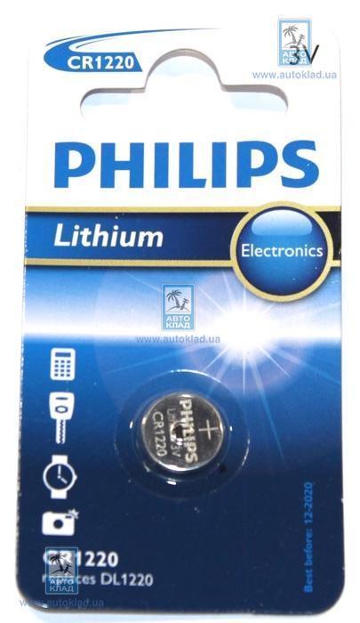Батарейка литиевая CR1220 PHILIPS CR122000B