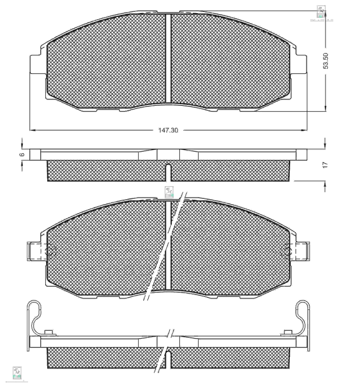 Колодки тормозные PMC PKA007