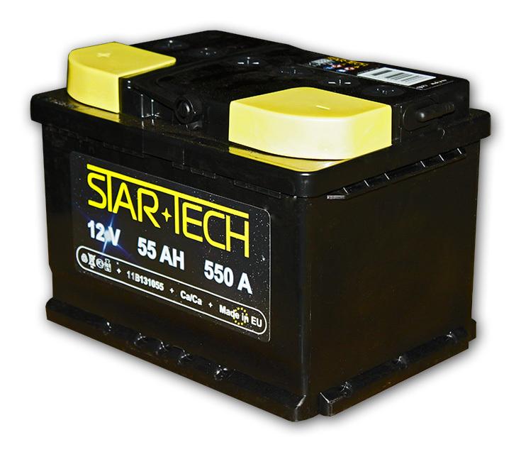 Аккумулятор 55Ач 550А STARTECH 11B130055