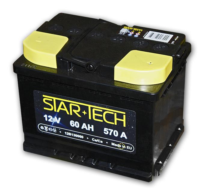 Аккумулятор 60Ач 570А STARTECH 12B130060