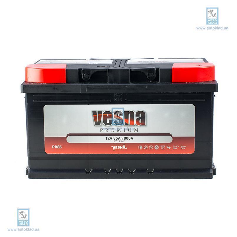 Аккумулятор 85Ач Premium Euro (0) VESNA 415082