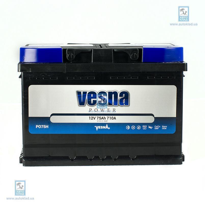 Аккумулятор 75Ач Power Euro (0) VESNA 415975