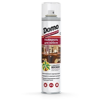 Полироль для мебели DOMO с воском 320мл XADO XD10026