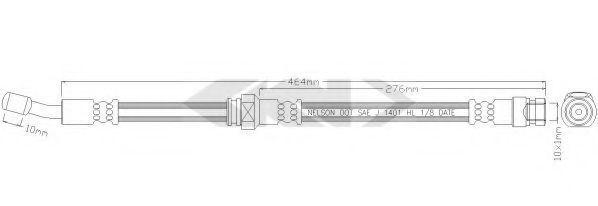 Тормозной шланг SPIDAN 338830