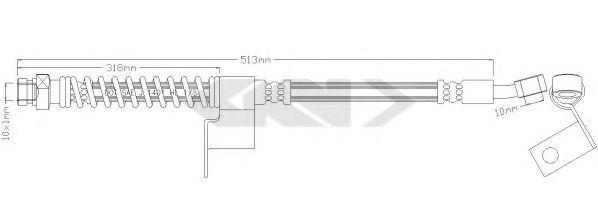Тормозной шланг SPIDAN 339635