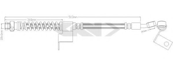 Тормозной шланг SPIDAN 339588