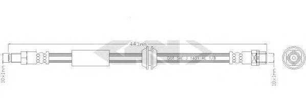 Тормозной шланг SPIDAN 39517