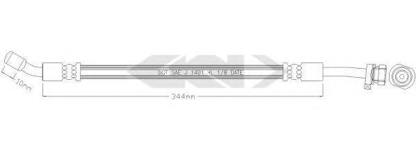 Тормозной шланг SPIDAN 340263