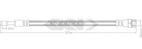 Тормозной шланг SPIDAN 340250