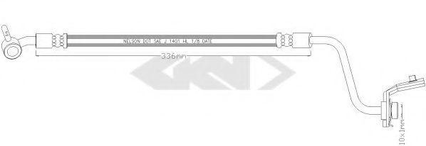 Тормозной шланг SPIDAN 340243