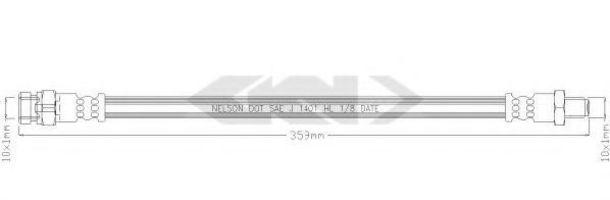 Тормозной шланг SPIDAN 340323