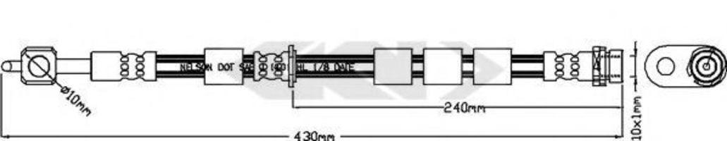 Тормозной шланг SPIDAN 340488