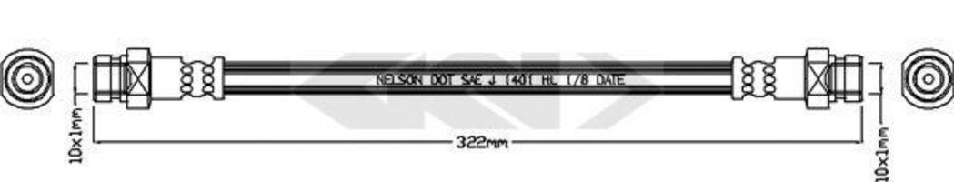 Тормозной шланг SPIDAN 340658