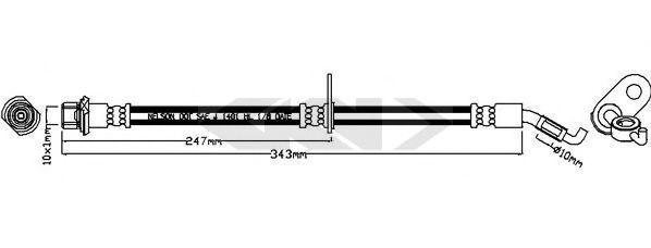 Тормозной шланг SPIDAN 340733