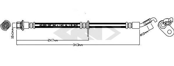 Тормозной шланг SPIDAN 340734