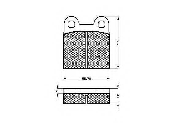 Комплект тормозных колодок, дисковый тормоз SPIDAN 30002