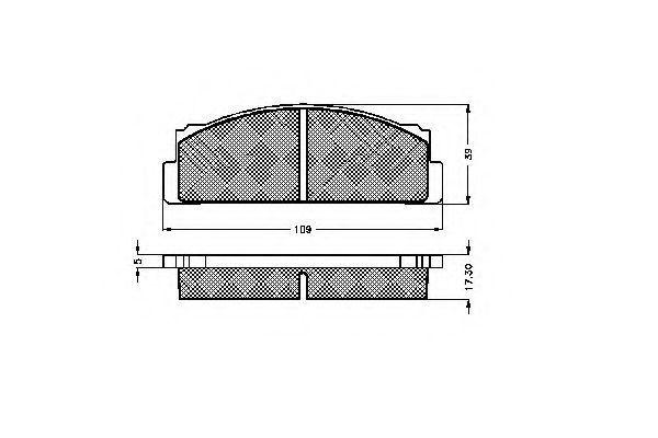 Комплект тормозных колодок, дисковый тормоз SPIDAN 30013