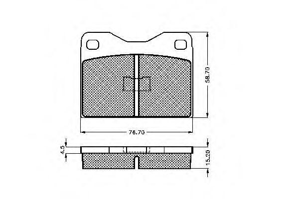 Комплект тормозных колодок, дисковый тормоз SPIDAN 30017