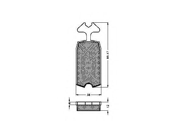 Комплект тормозных колодок, дисковый тормоз SPIDAN 30031
