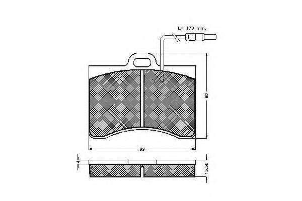 Комплект тормозных колодок, дисковый тормоз SPIDAN 30079