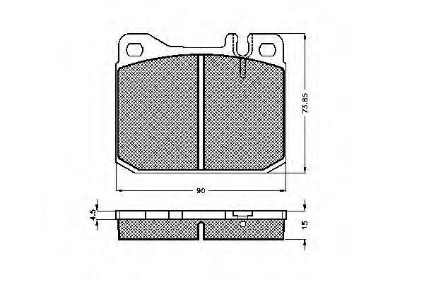 Комплект тормозных колодок, дисковый тормоз SPIDAN 30089