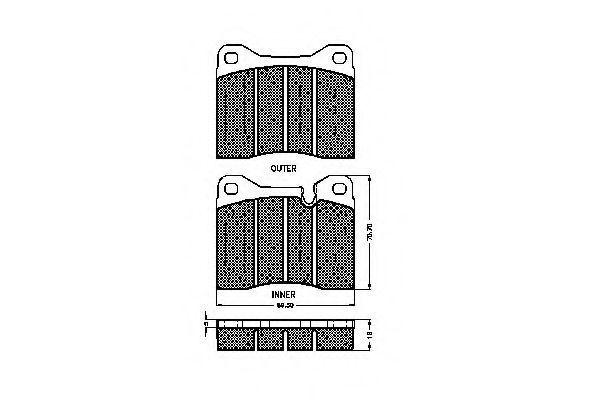 Комплект тормозных колодок, дисковый тормоз SPIDAN 30101
