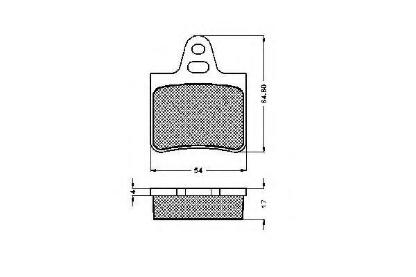 Комплект тормозных колодок, дисковый тормоз SPIDAN 30124