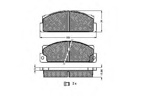 Комплект тормозных колодок, дисковый тормоз SPIDAN 30168