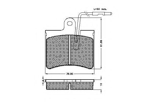 Комплект тормозных колодок, дисковый тормоз SPIDAN 30174
