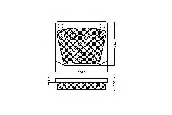 Комплект тормозных колодок, дисковый тормоз SPIDAN 30240