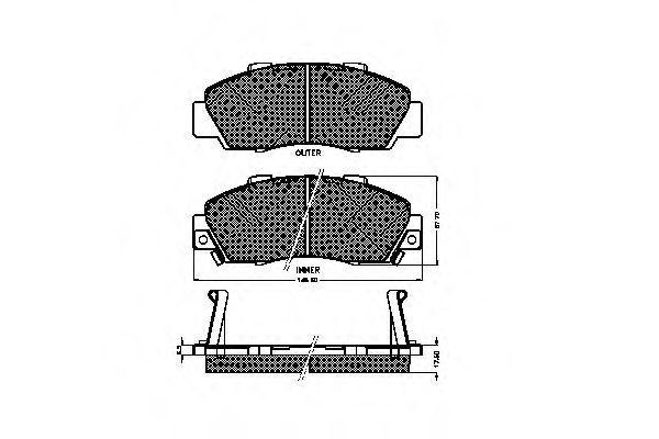 Комплект тормозных колодок, дисковый тормоз SPIDAN 30984