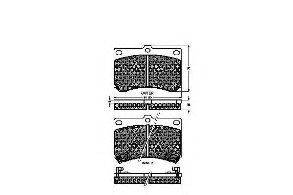 Комплект тормозных колодок, дисковый тормоз SPIDAN 31756