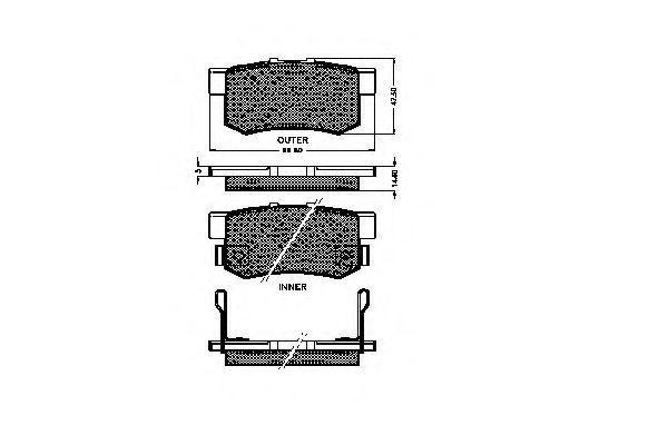 Комплект тормозных колодок, дисковый тормоз SPIDAN 31827