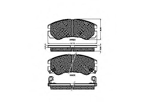Комплект тормозных колодок, дисковый тормоз SPIDAN 31868