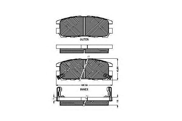 Комплект тормозных колодок, дисковый тормоз SPIDAN 31869