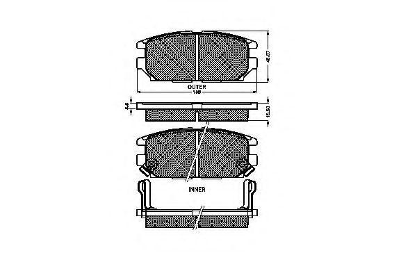 Комплект тормозных колодок, дисковый тормоз SPIDAN 32122